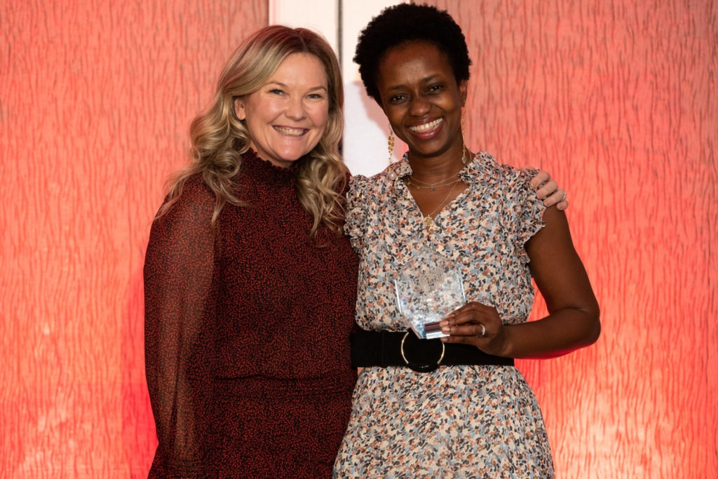 Aminata Conteh-Biger with Pip Marlow, CEO of Salesforce Australia and New Zealand